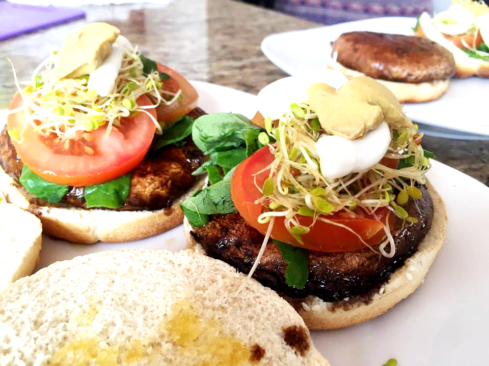 HAMBURGUESA PORTOBELLO TOPPINGS